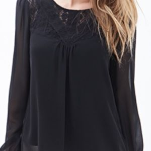 Lace Paneled Georgette Top